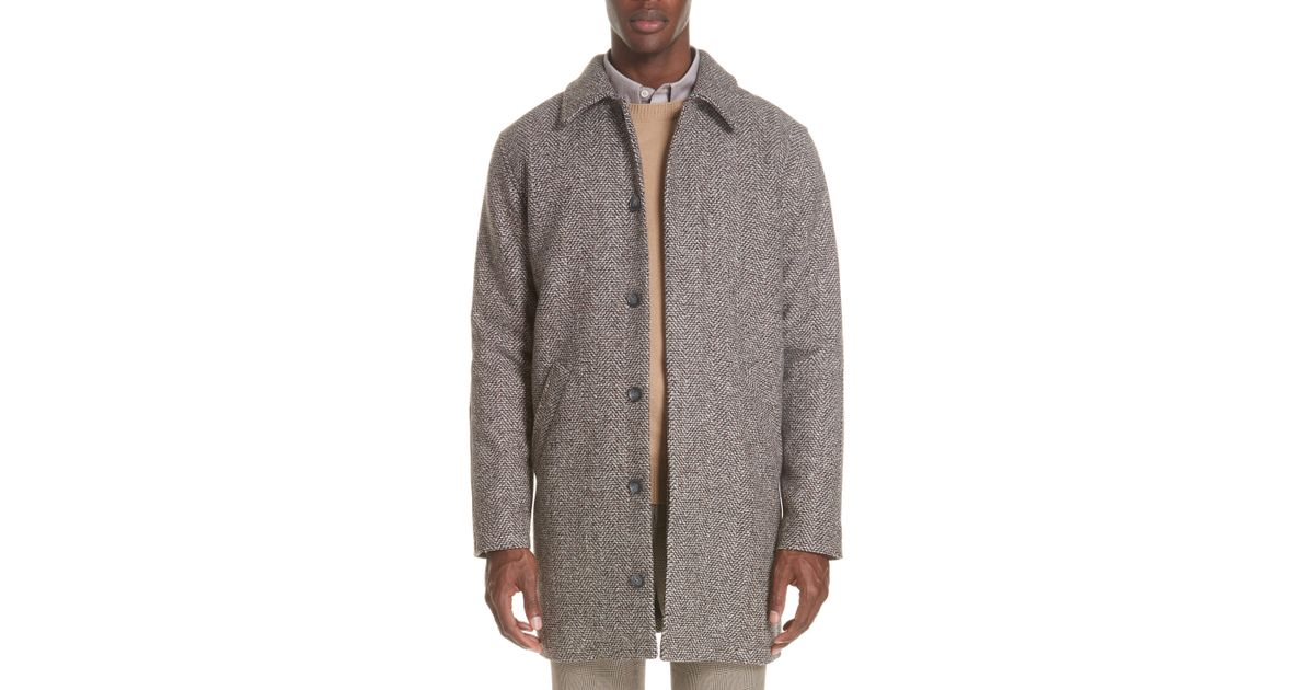 énorme réduction a400f 6f934 A.P.C. Gray Manteau Pete Coat for men