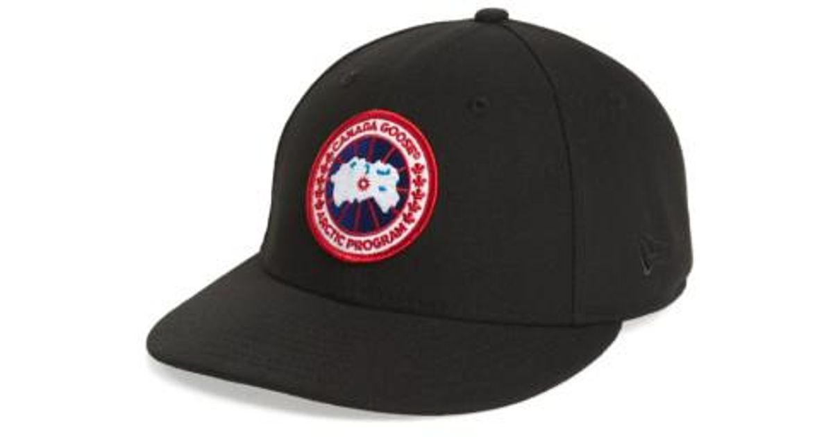 c52ab03adcc Lyst - Canada Goose Core Snapback Baseball Cap in Black for Men