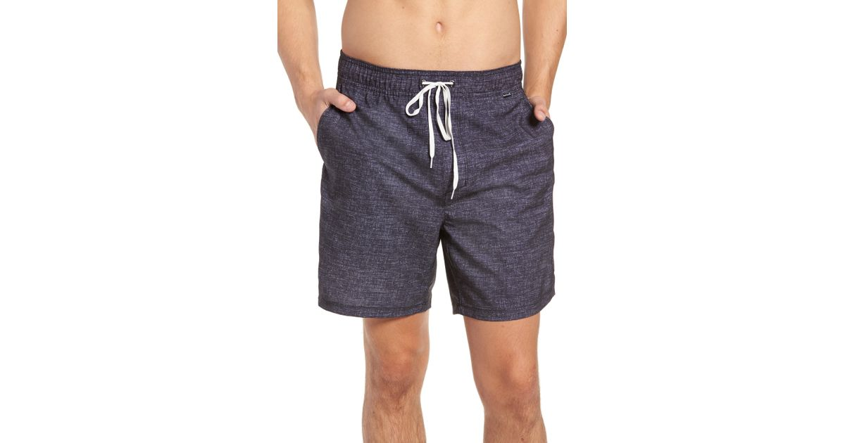 07130a796a70c Lyst - Hurley Heather Volley Swim Trunks in Black for Men