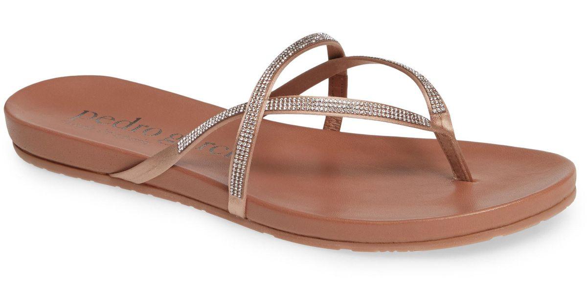 a0e69f6d7 Lyst - Pedro Garcia Giulia Crystal Embellished Sandal in Brown