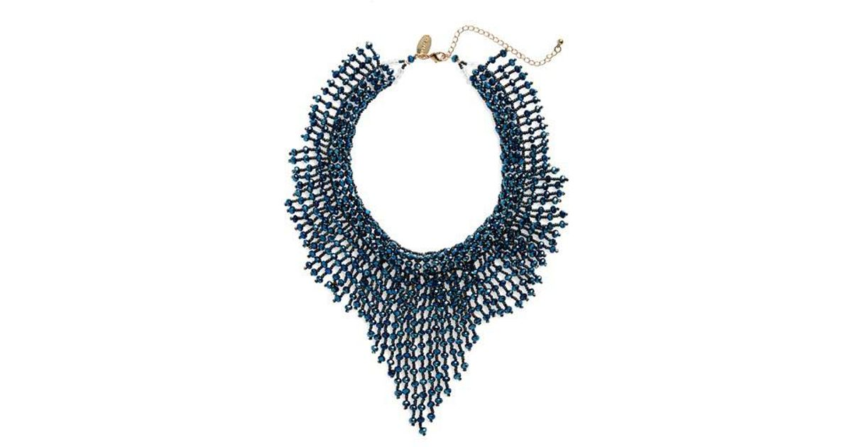bib diamonds necklace with mesh