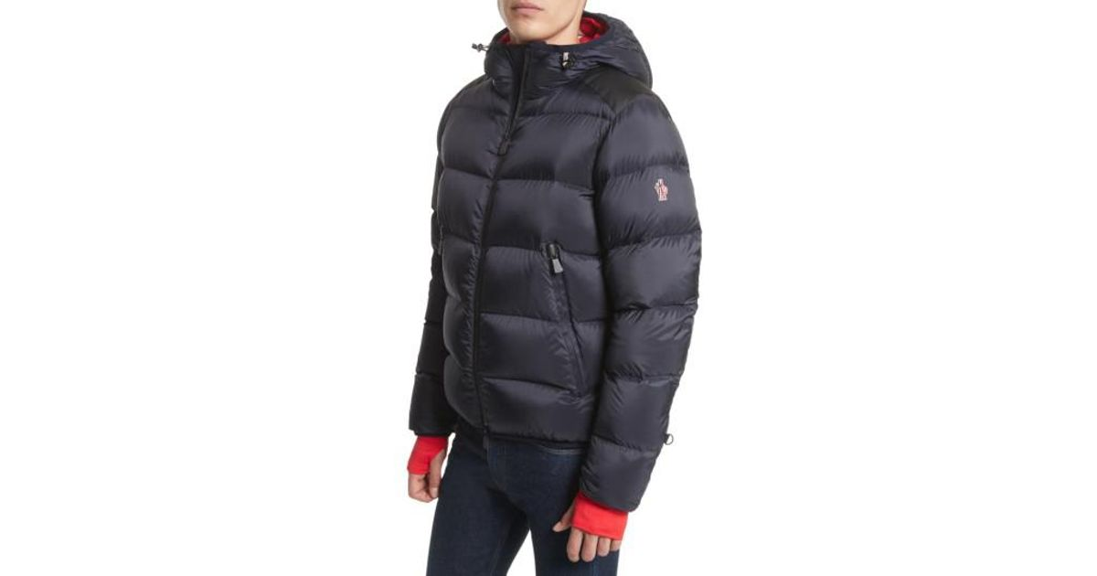 430848306 Moncler Blue Grenoble Hintertux Hooded Down Jacket for men