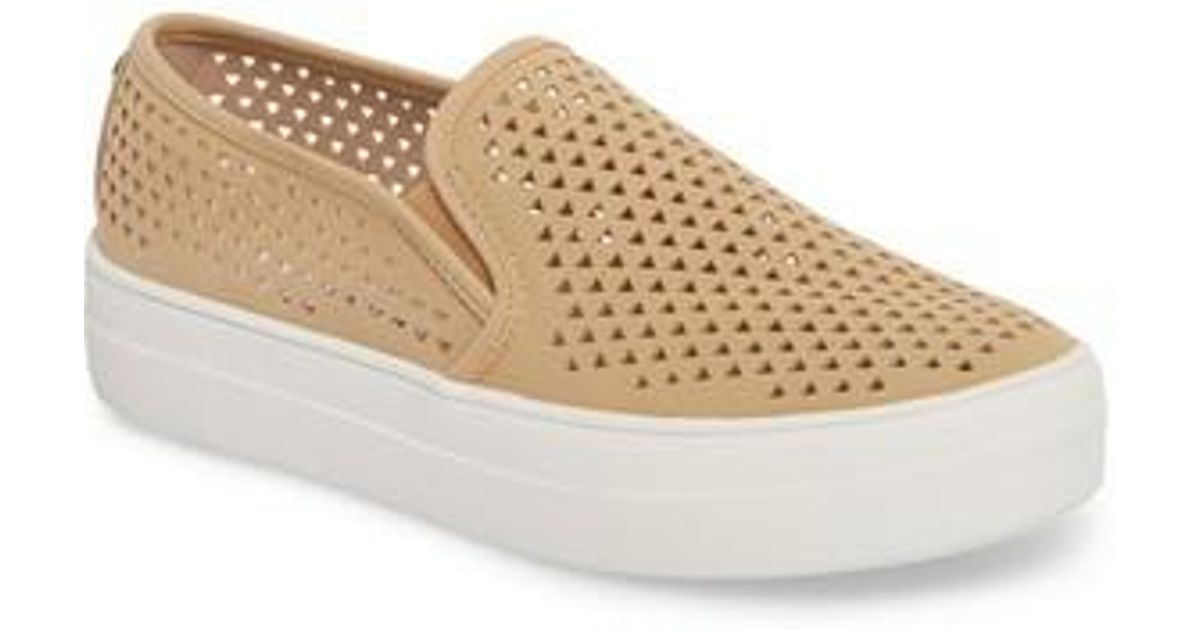 045d703f714 Lyst - Steve Madden Gal-p Perforated Slip-on Sneaker (women) in Natural