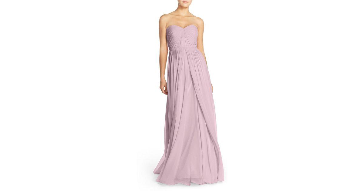 0cdb3c0e3d6a Lyst - Jenny Yoo Mira Convertible Strapless Chiffon Gown in Pink
