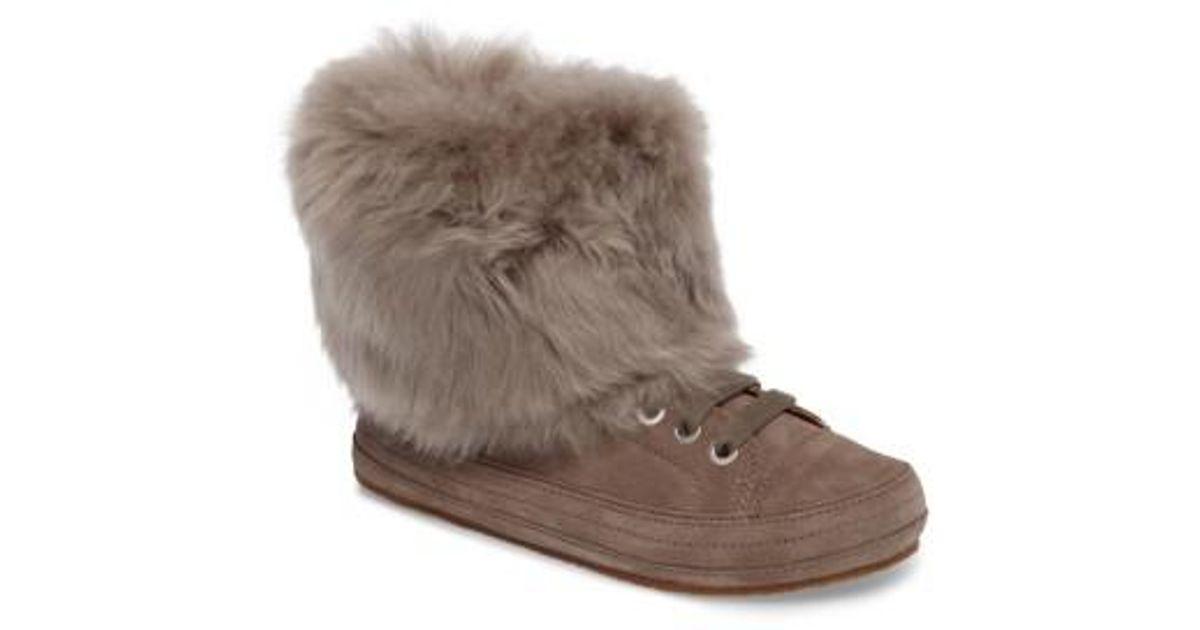 UGG Ugg Antoine Fur Cuff Sneaker - Lyst