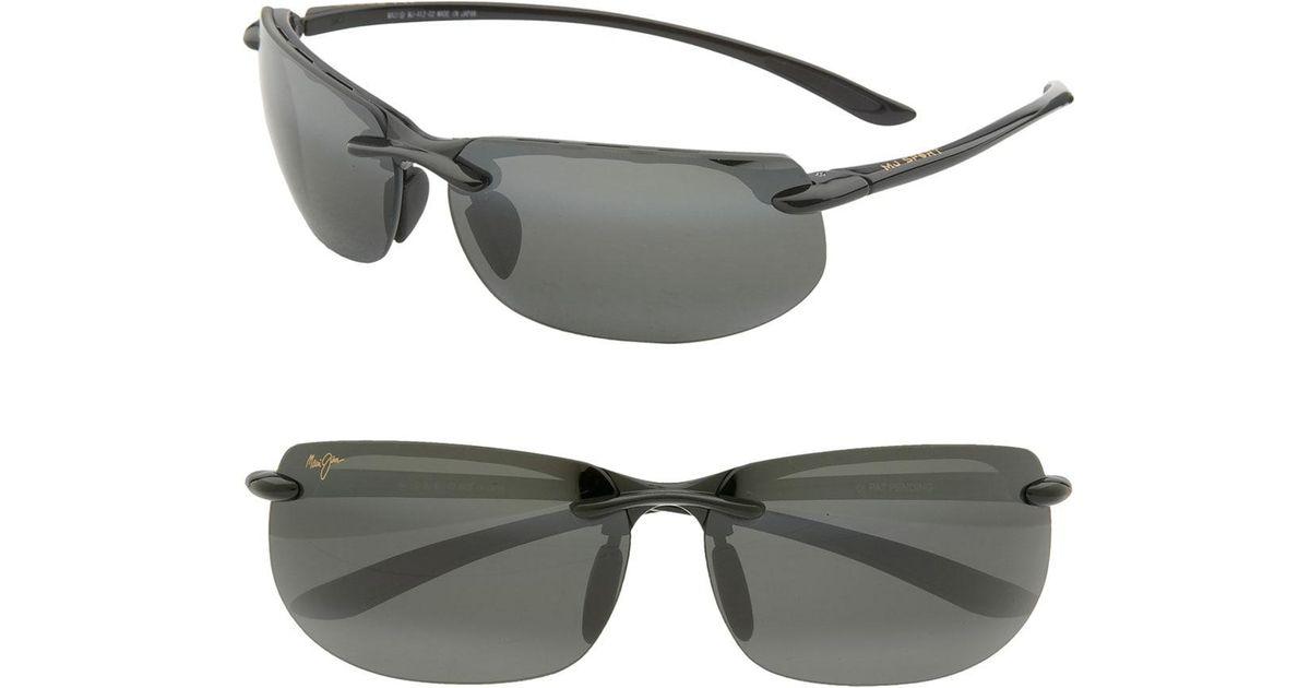 d1b720830d Lyst - Maui Jim 'banyans - Polarizedplus2' 67mm Sunglasses - Gloss Black /  Neutral Grey in Black for Men