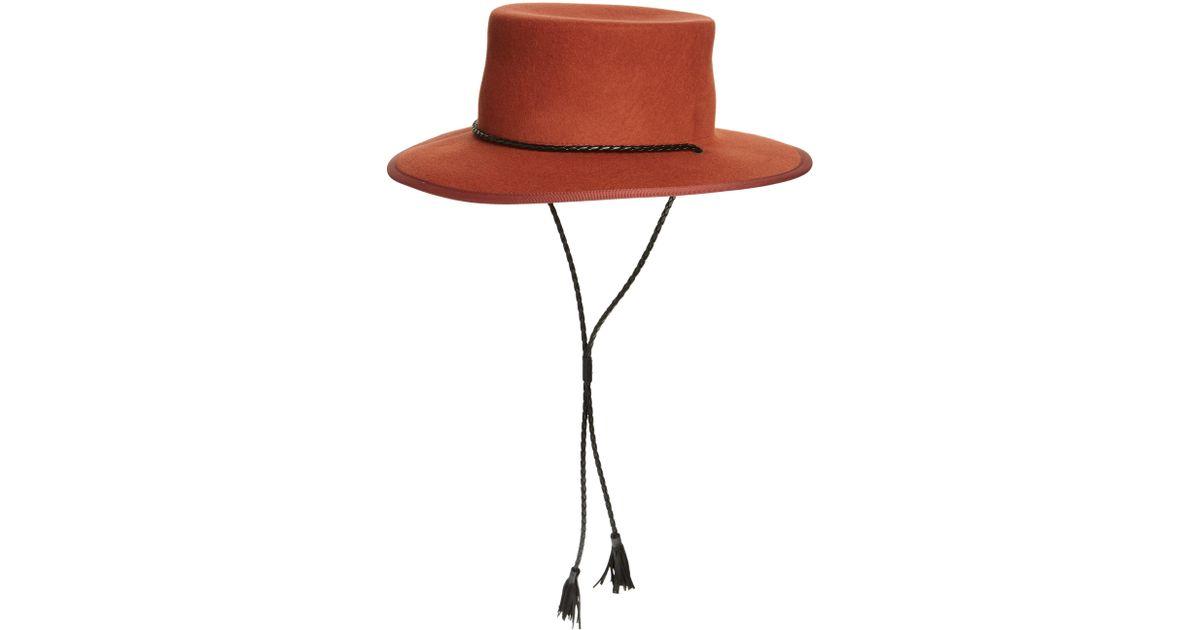 6af43e07b637 Madewell X Biltmore Felt Stampede Strap Hat - Lyst