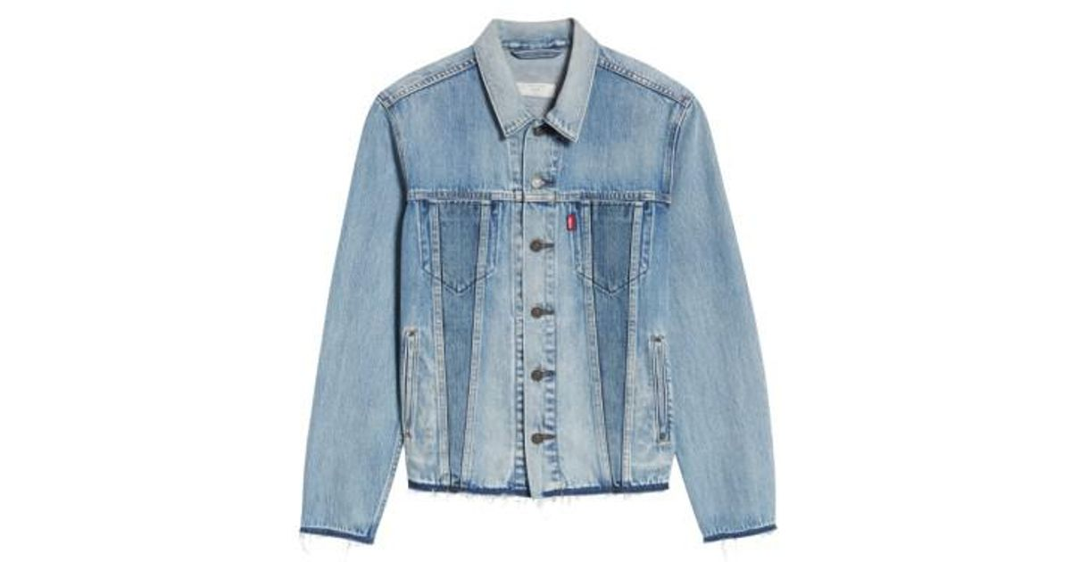 ed06ab4e64 Lyst - Levi s Levi s Altered Distressed Denim Trucker Jacket in Blue for Men