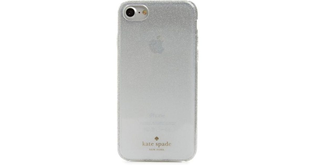 best loved b0da9 dd876 Kate Spade White Glitter Ombre Iphone 7/8 & 7/8 Plus Case