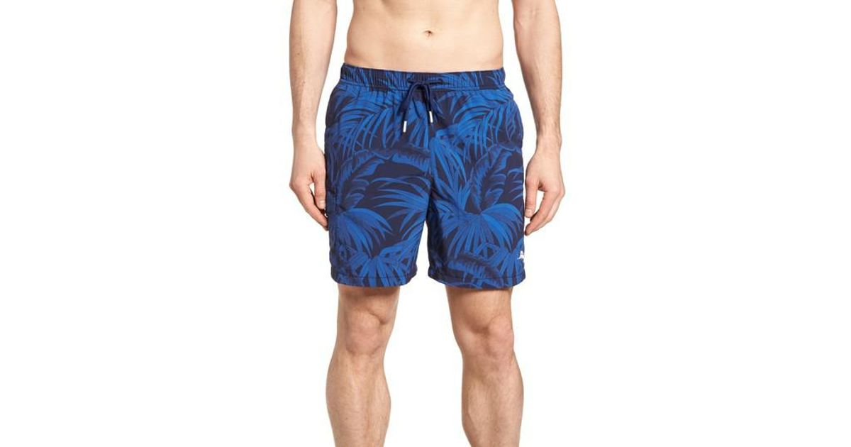0e11924eca Lyst - Tommy Bahama Naples Midnight Flora Swim Trunk (ocean Deep) Men's  Swimwear in Blue for Men