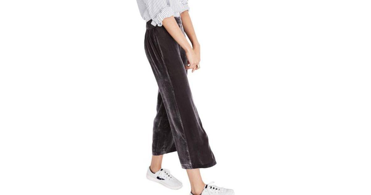 257edc77be Lyst - Madewell Velvet Pants