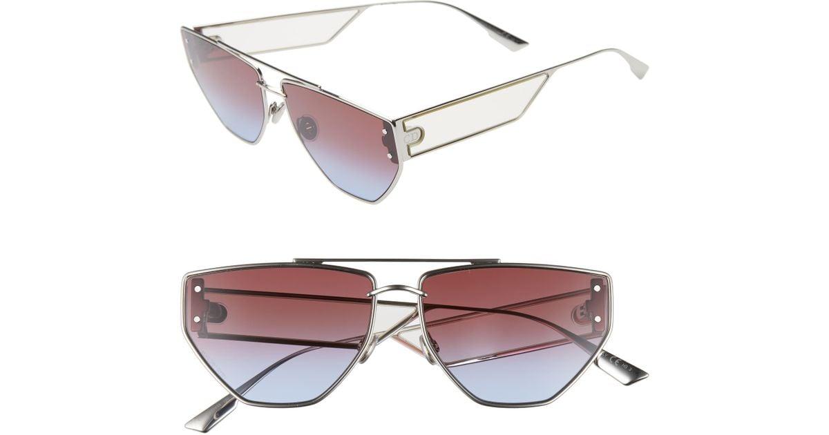 f26c571d2 Dior Clan 2 61mm Aviator Sunglasses - Palladium/ Dark Gradient - Lyst
