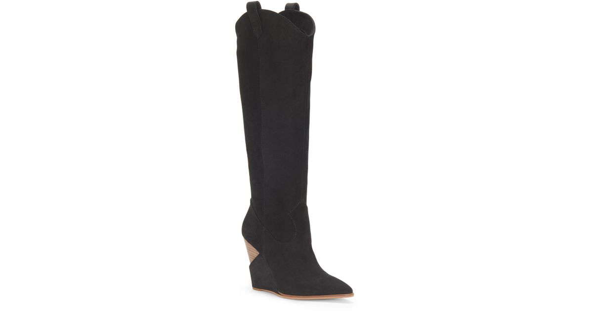 7fb0951e9c0e Lyst - Jessica Simpson Havrie Knee High Boot in Black - Save 53%