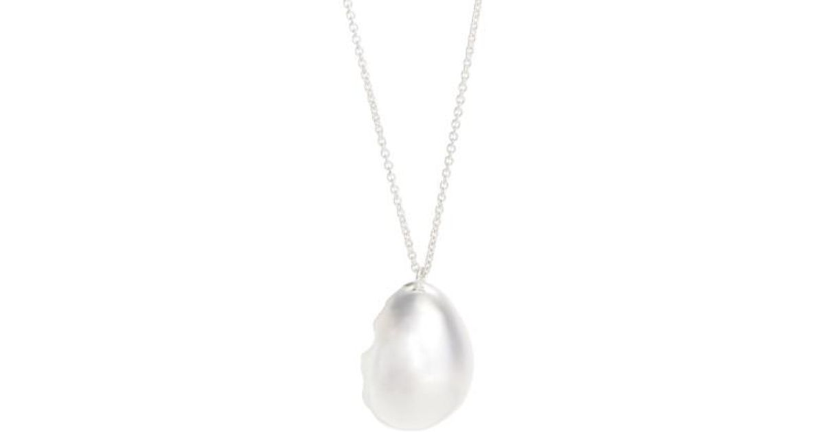 Silver Quail Eggshell Necklace All_Blues ZUgmDy1M0r