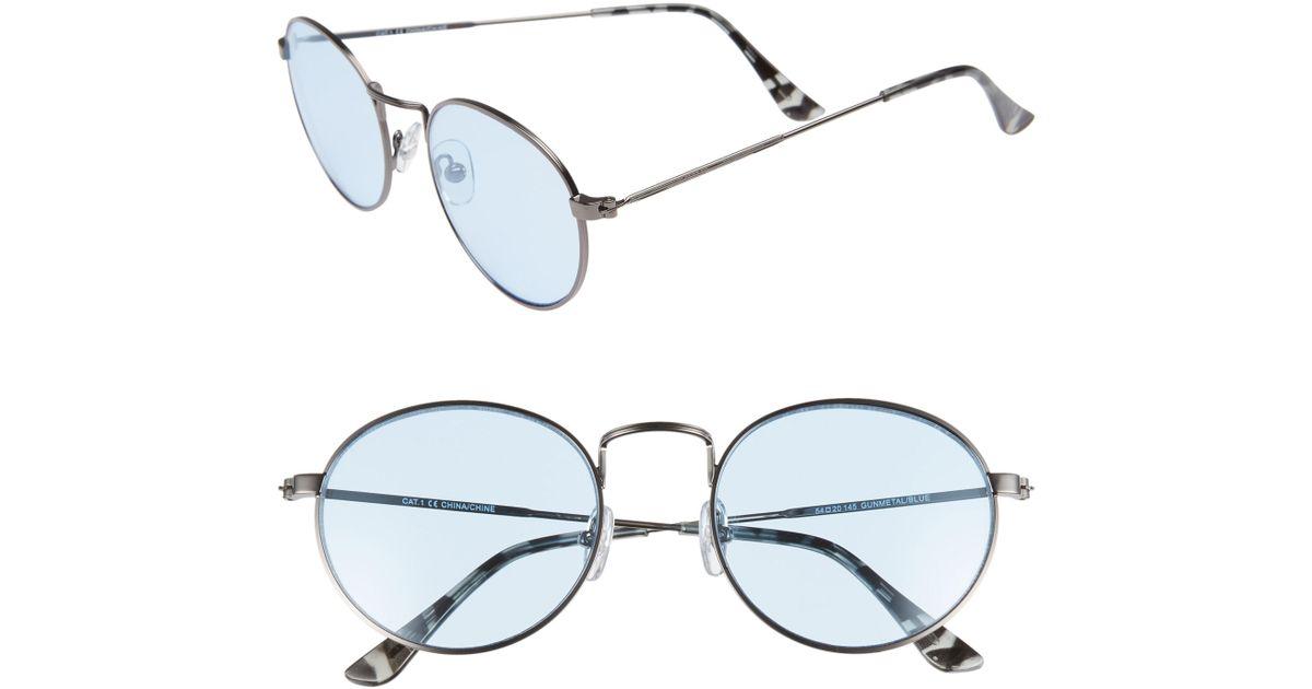 76ba1c3575f Lyst - Nordstrom 1901 Lewis 54mm Round Sunglasses - in Metallic for Men