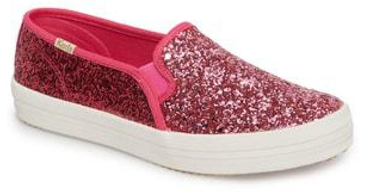 c497b18dbdd Lyst - Kate Spade Keds For Kate Spade New York Double Decker Glitter  Slip-on Sneaker in Black