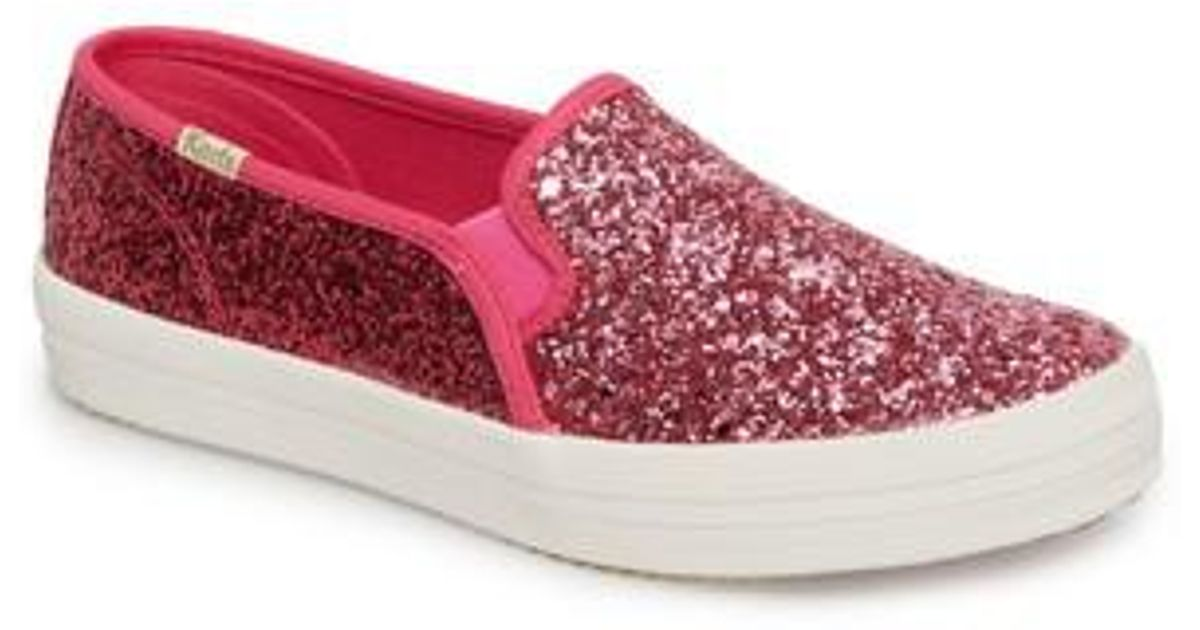 f65004016701e Lyst - Kate Spade Keds For Kate Spade New York Double Decker Glitter  Slip-on Sneaker in Pink