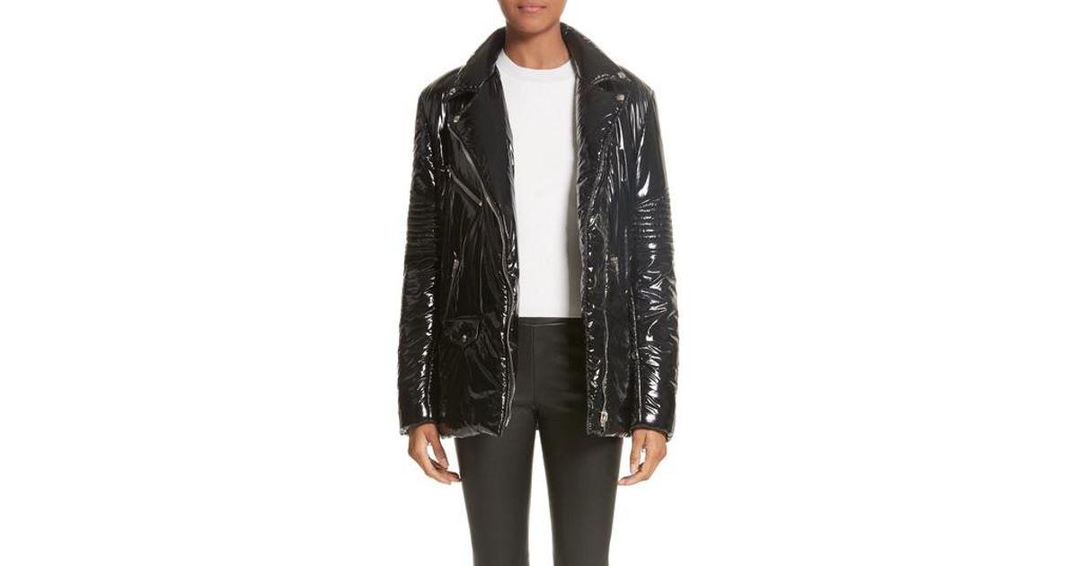 e47c4bfbd Alexander Wang Black Moto Puffer Jacket