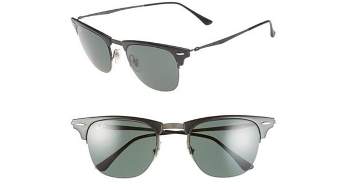 ee22bffbe0 ... promo code for lyst ray ban tech liteforce clubmaster 51mm sunglasses  in black for men 738b0