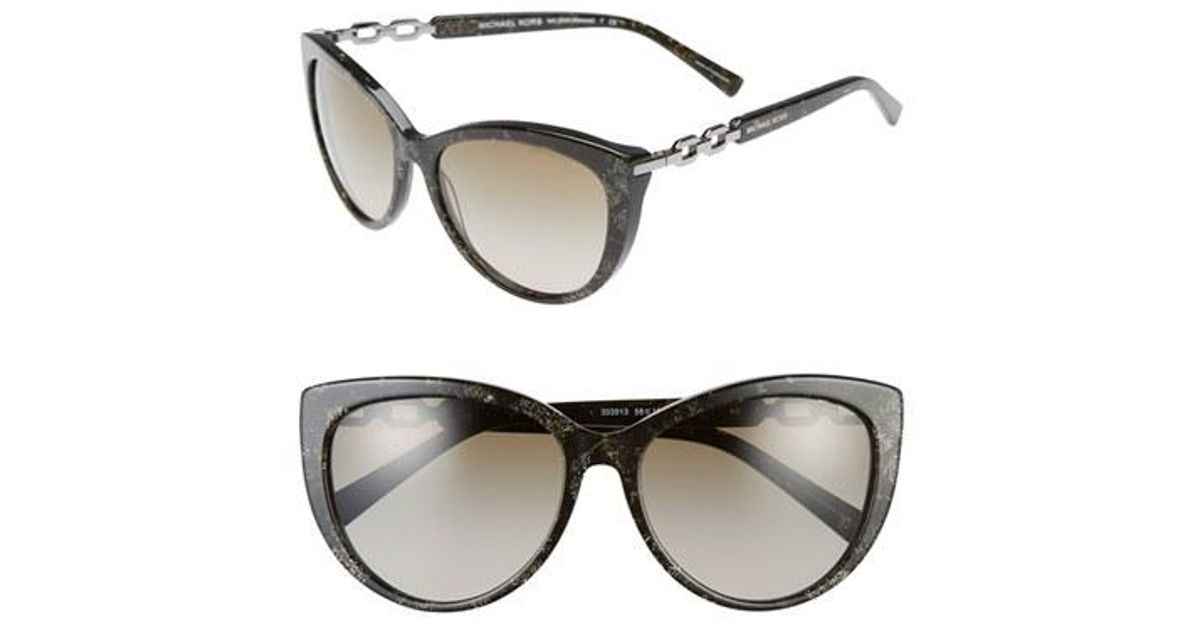 05fd24df3d93d Lyst - Michael Kors Collection 56mm Cat Eye Sunglasses in Gray