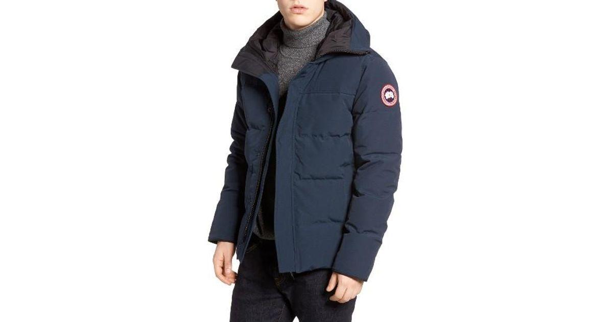 80f55d4e380 Canada Goose Blue 'macmillan' Slim Fit Hooded Parka for men
