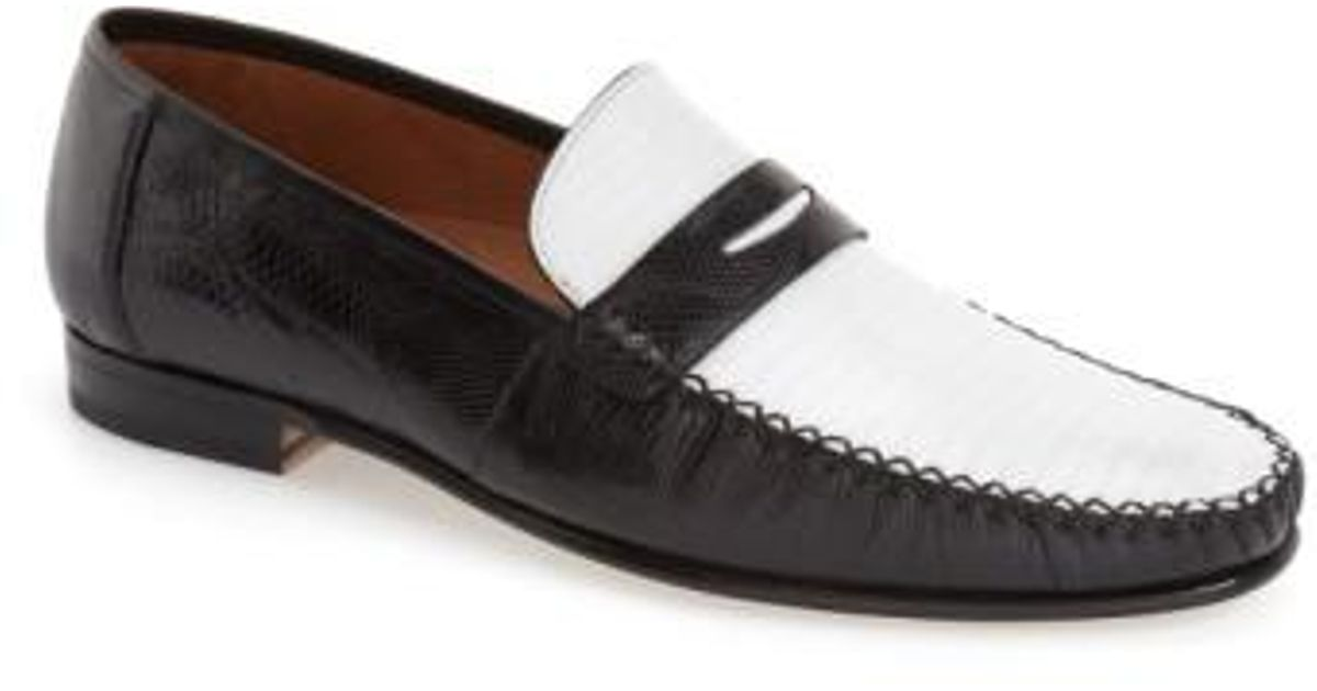 Mezlan Leather 'cubas' Penny Loafer in Black for Men - Lyst