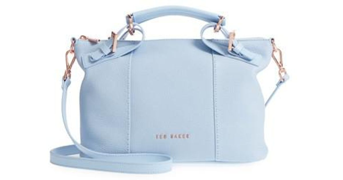 62d93a5d8 Lyst - Ted Baker Salbett Top Handle Leather Tote in Blue