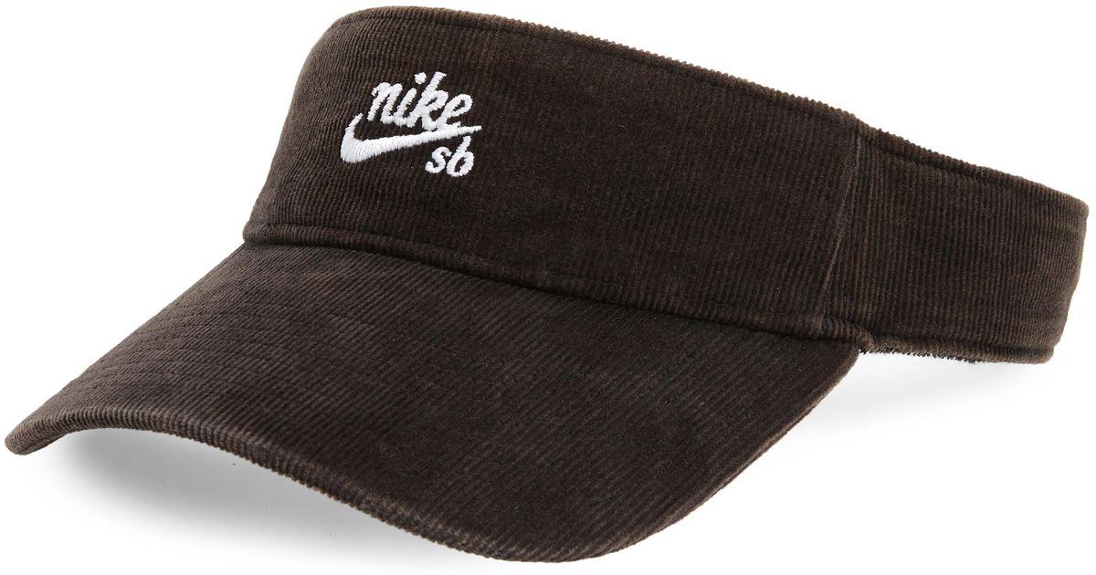 06710033b68ab Lyst - Nike Visor in Black for Men