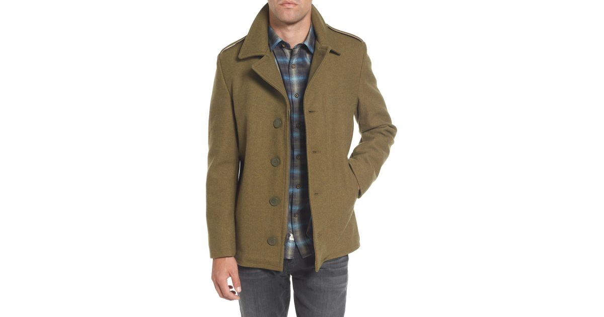 890faac1915 Lyst - Schott Nyc Slim Fit Wool Military Jacket for Men