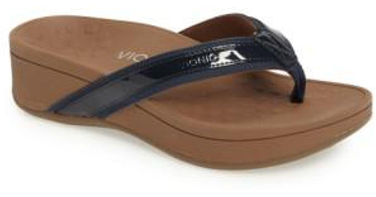 Vionic High Tide Wedge Flip Flop - Lyst-5389