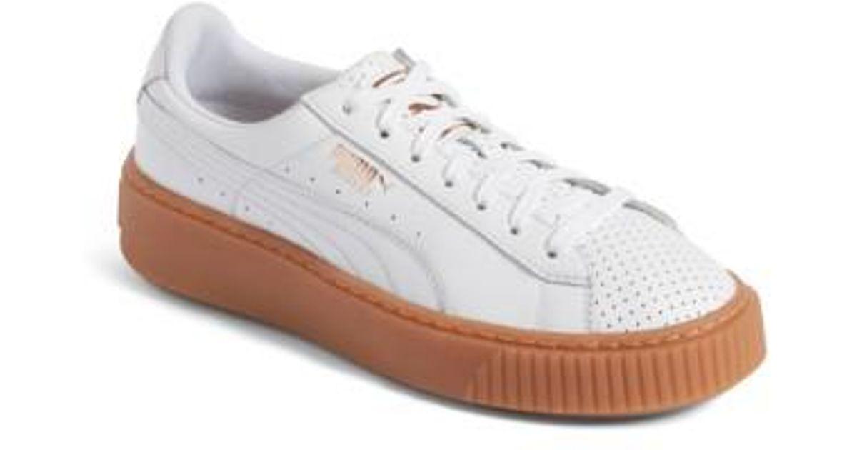 competitive price a188e c201c PUMA White Basket Platform Sneaker