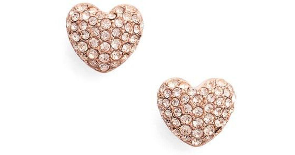 9dae583592e0 Michael Kors Rose Gold Heart Stud Earrings - Best All Earring Photos ...