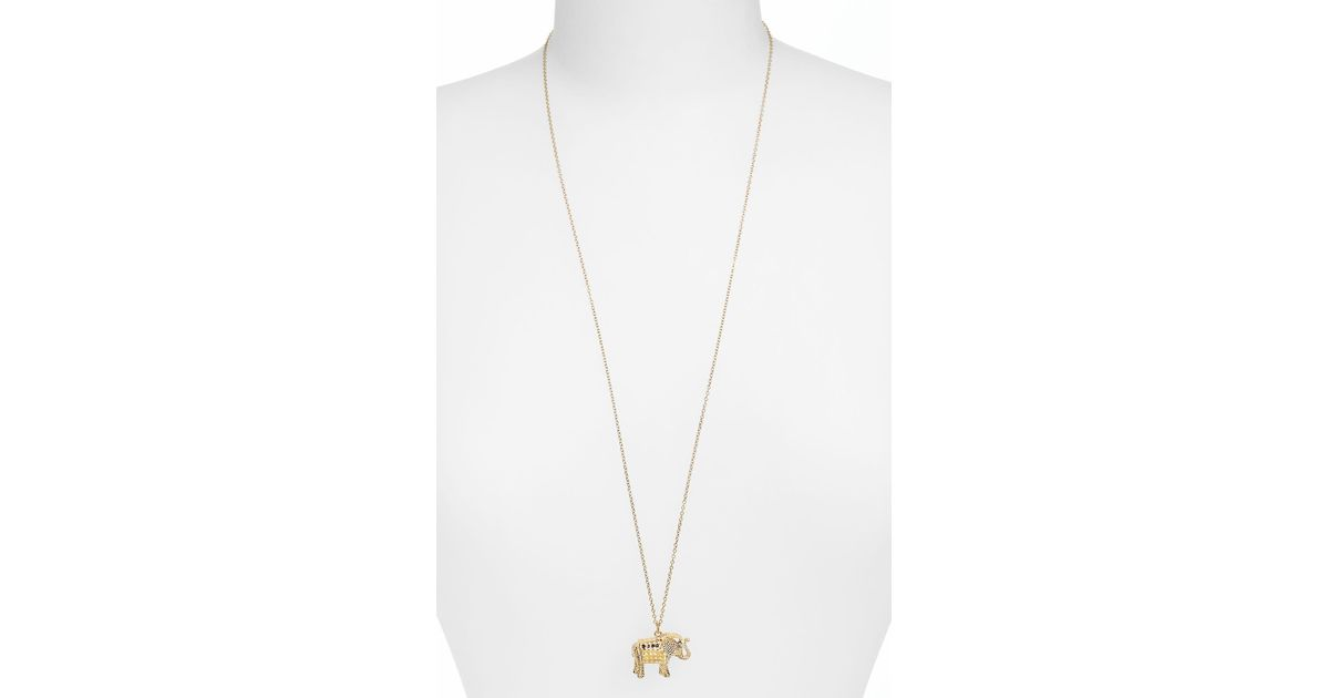 5f02bfadf Anna Beck Jewelry That Makes A Difference Elephant Pendant Necklace in  Metallic - Lyst