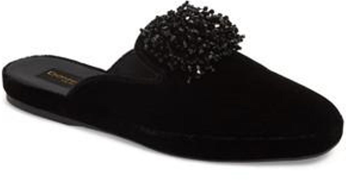 new style 748f0 8a834 Donna Karan Black Donna Karan Cara Embellished Mule