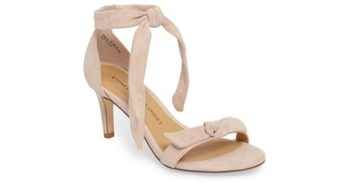 b9ecb8d6b0 Chinese Laundry Rhonda Ankle Tie Sandal in Black - Lyst