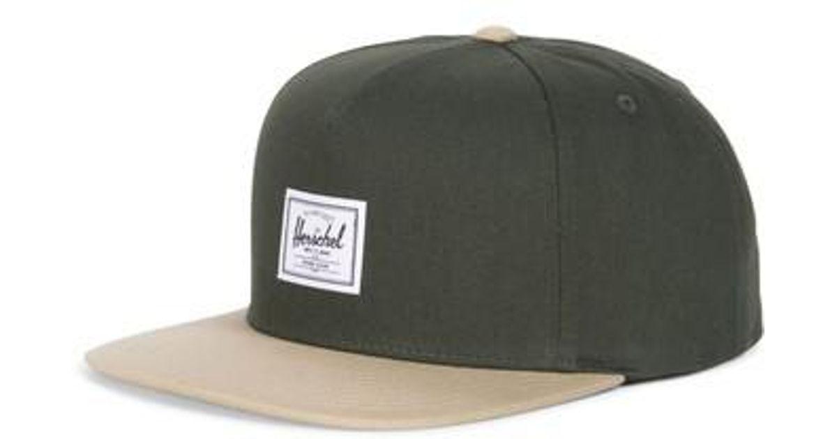 sneakers for cheap 51846 8d654 ... denmark lyst herschel supply co. dean snapback baseball cap in green  for men 20d65 bf953