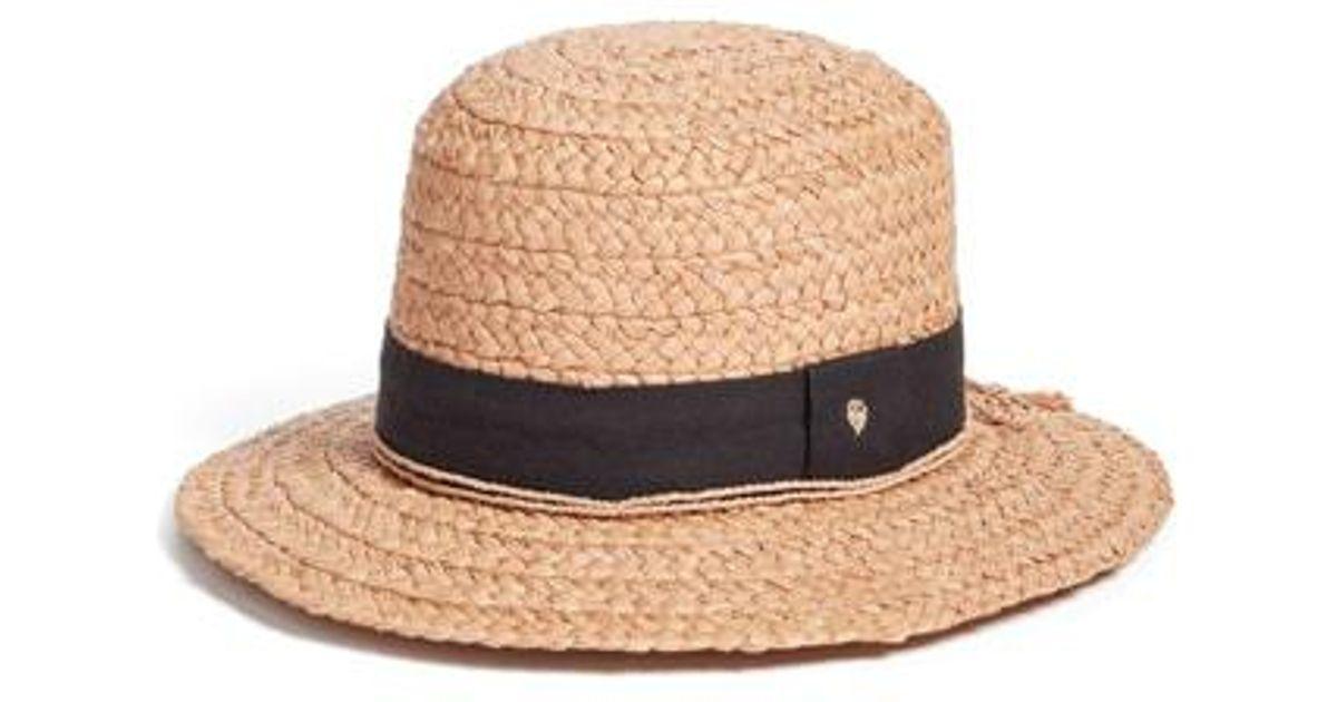 71b99fba2b16c Lyst - Helen Kaminski Wide Raffia Boater Hat - in Natural