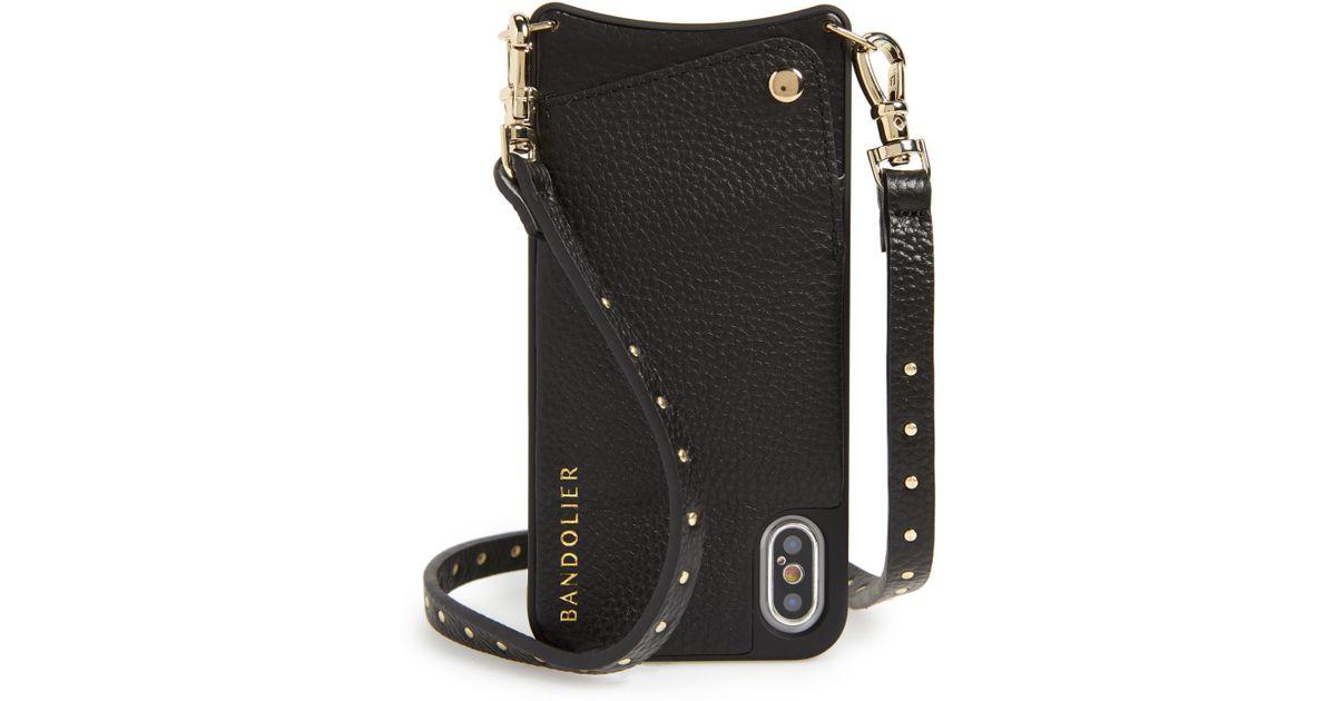 3aa828493f5e Lyst - Bandolier Nicole Pebbled Leather 6 7 8   6 7 8 Plus Crossbody Case -  in Black