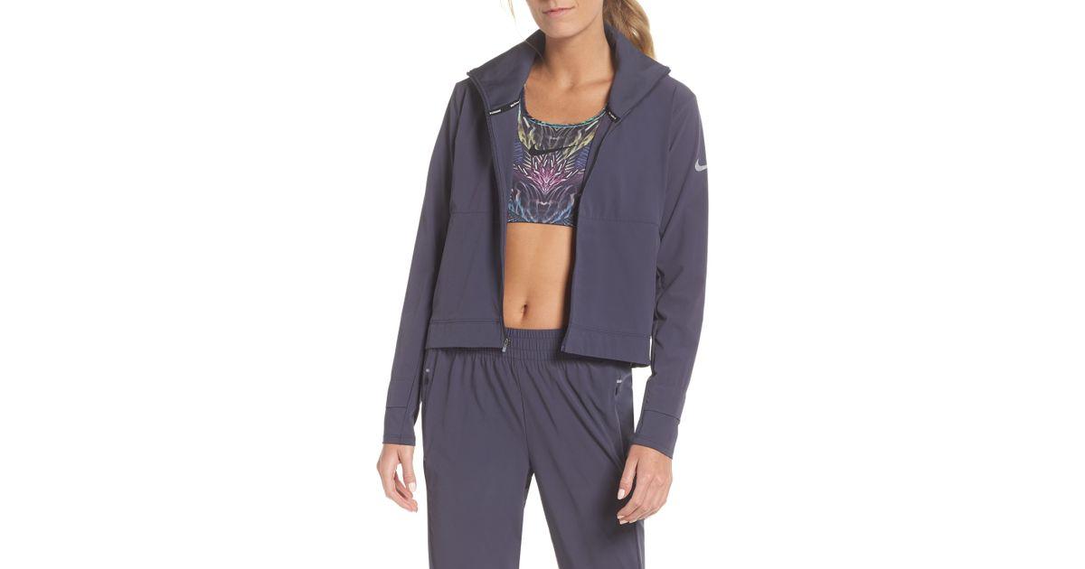 f4cb0b7f50b20c Nike Swift Run Jacket in Blue - Lyst