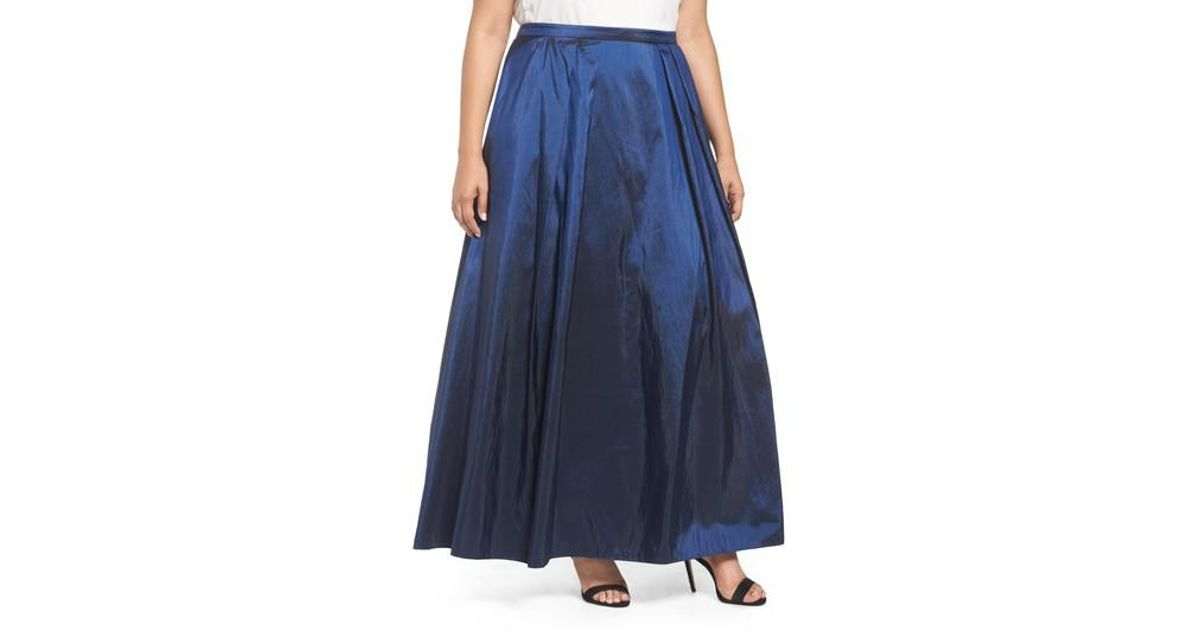 Lyst - Alex Evenings Taffeta Ballgown Skirt in Blue
