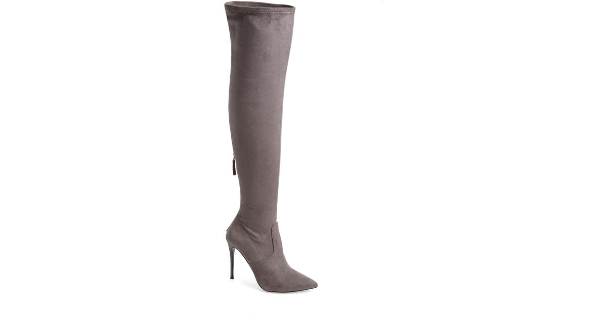 9c6745ea82e Lyst - Steve Madden Devine Over The Knee Boot in Gray - Save 51%