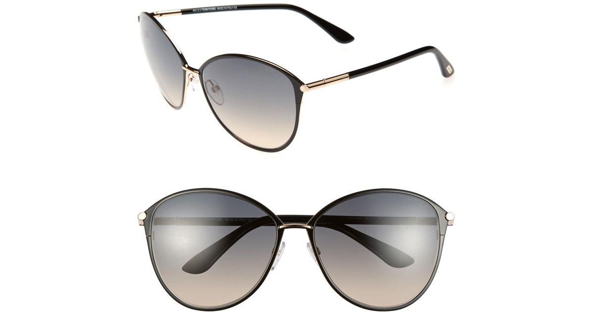 ab68580eb103 Lyst - Tom Ford Penelope 59mm Gradient Cat Eye Sunglasses -