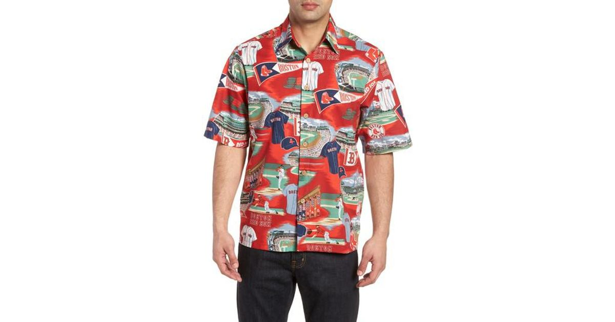 1bbb1ac6 Reyn Spooner Boston Red Sox Classic Fit Camp Shirt in Red for Men - Lyst