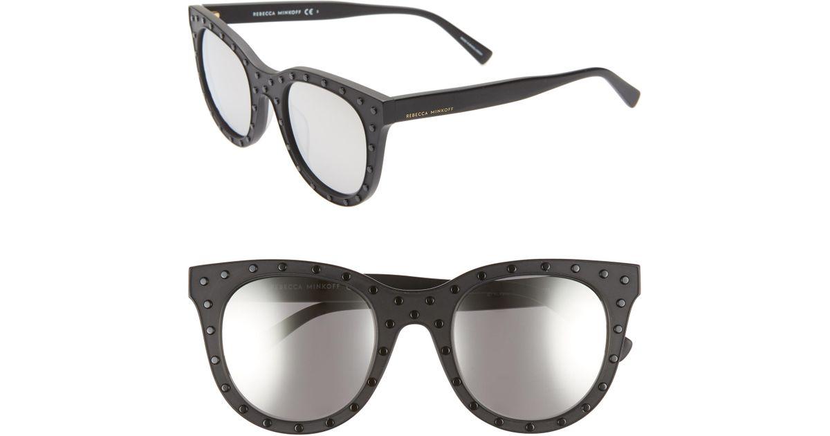 8137a0c35d208 Lyst - Rebecca Minkoff Cyndi2 50mm Studded Sunglasses -