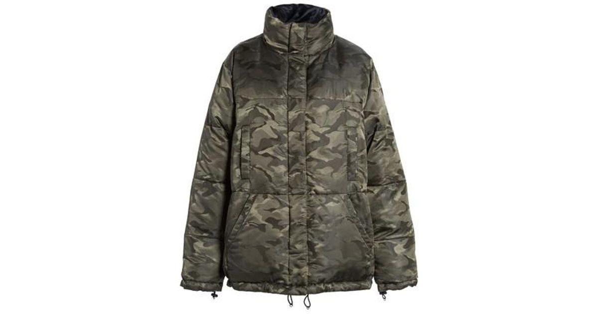 KENDALL KYLIE Womens Reversible Puffer Jacket