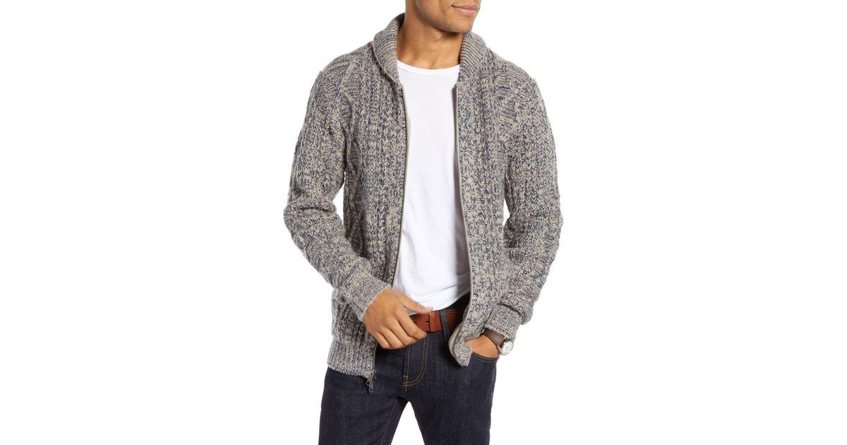 Lyst - Nordstrom 1901 Shawl Collar Full Zip Cardigan in Gray for Men 7d42d7f47