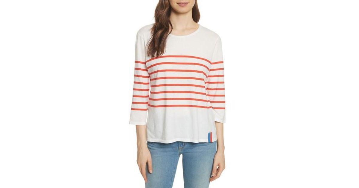 0e5db5c5 Kule The Malibu Striped Bracelet-sleeve T-shirt - Lyst