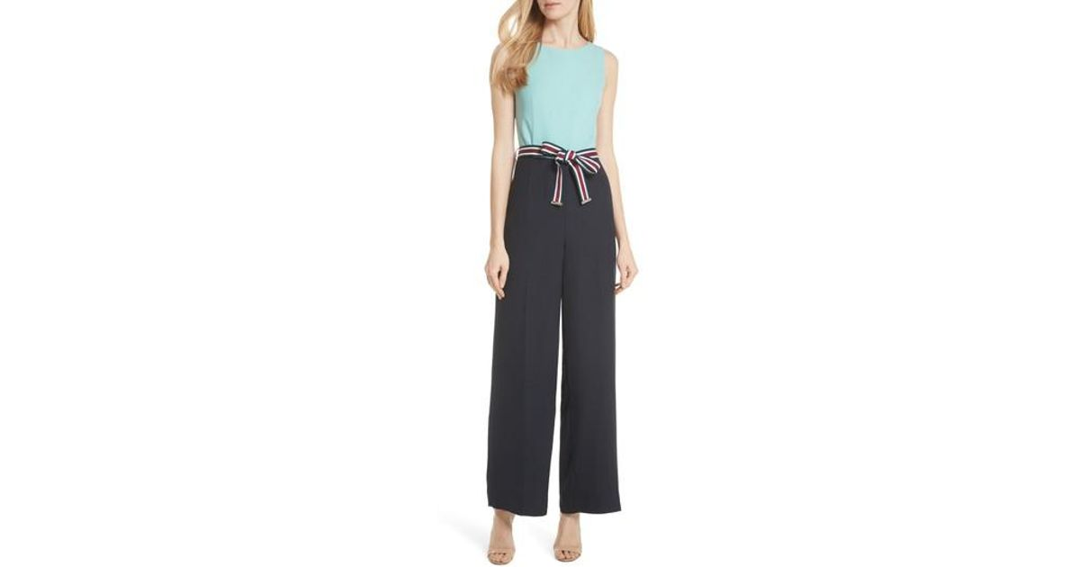 cb469d85097 Lyst - Ted Baker Colour By Numbers Colorblock Jumpsuit in Black