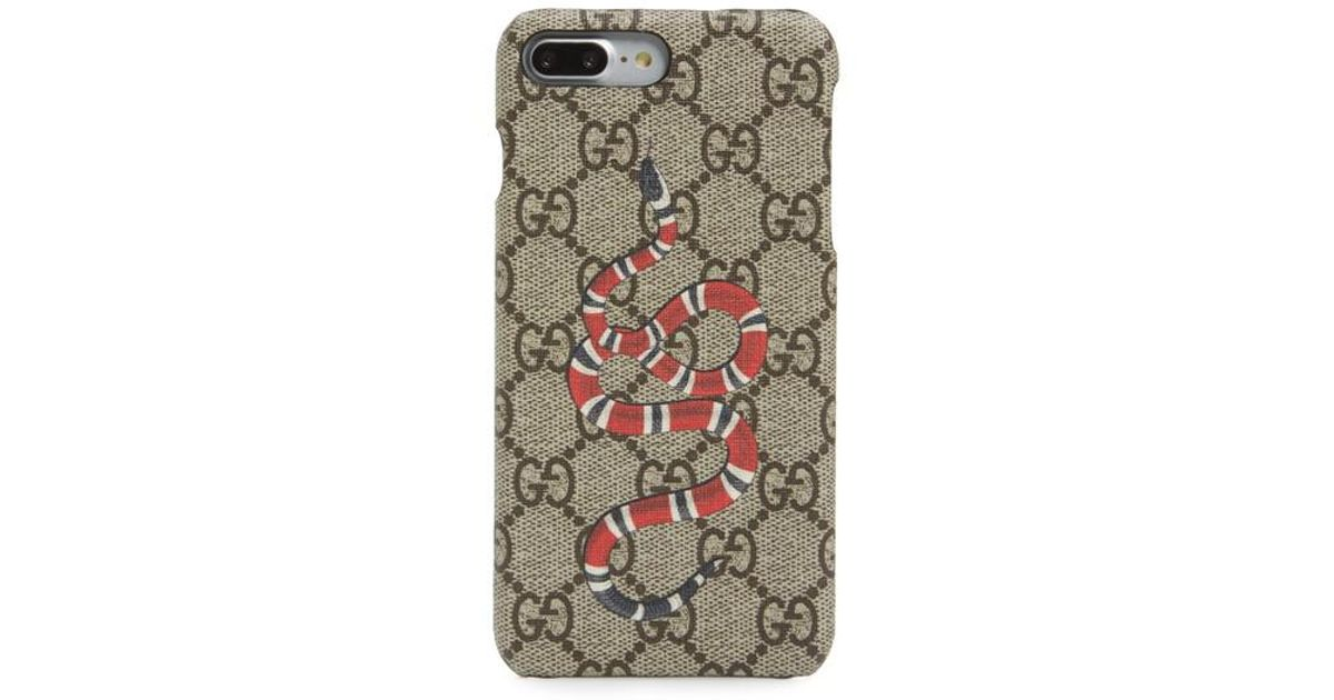 new product 38ff2 5760b Gucci Multicolor Snake Iphone 7 Plus Case
