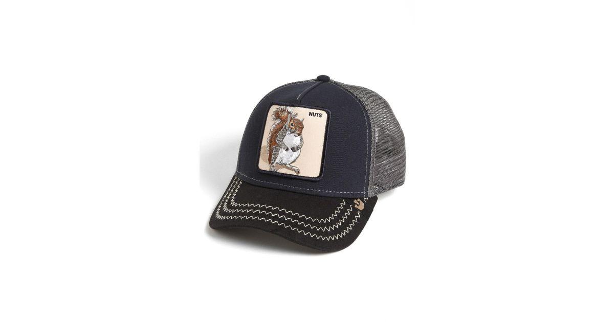 Lyst - Goorin Bros  animal Farm - Squirrel Master  Snapback Trucker Hat in  Blue for Men - Save 49% 073b1c13f03a